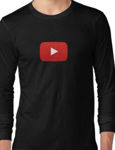 Youtube Play Icon Long Sleeve T-Shirt