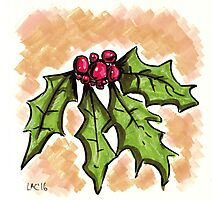 Holiday Holly Photographic Print
