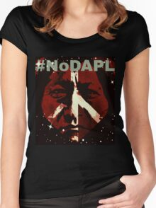 #STANDWITHSTANDINGROCK, Proceeds to Sacred Stone Camp Women's Fitted Scoop T-Shirt