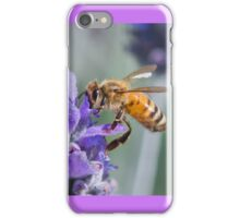 Lavendar flower with bee iPhone Case/Skin