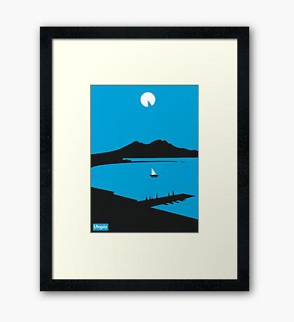 Moon Island - Utopia Framed Print