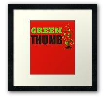 Green Thumb Framed Print