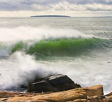 Large Crashing Waves Acadia National Park by KWJphotoart