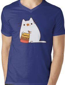 Cute Kawaii Cheeto Cat Mens V-Neck T-Shirt