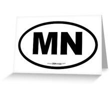 Michigan MI Euro Oval Greeting Card