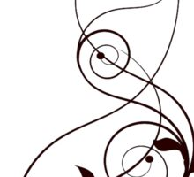 Artistic Curves Sticker