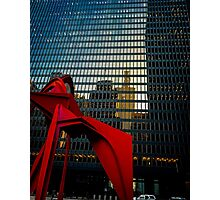 Flamingo and Sears Tower Reflection Photographic Print