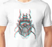 3D Beetle Illustration - Works with 3D glasses!!! Unisex T-Shirt