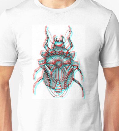 3D Beetle Illustration - Works with 3D glasses!!! Unisex T-Shirt
