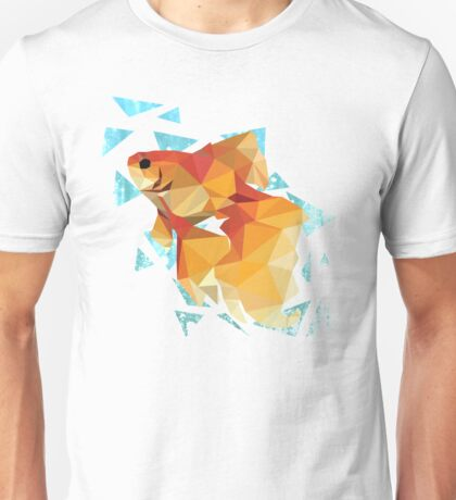 Low Poly Goldfish Unisex T-Shirt