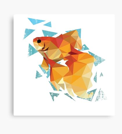 Low Poly Goldfish Canvas Print