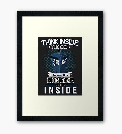 Tardis Dr. Who Framed Print