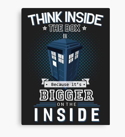 Tardis Dr. Who Canvas Print