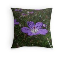 Carpet Geranium Throw Pillow