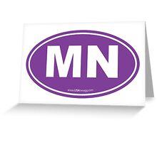 Minnesota MN Euro Oval PURPLE Greeting Card