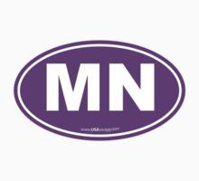 Minnesota MN Euro Oval PURPLE by USAswagg