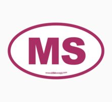 Mississippi MS Euro Oval PINK by USAswagg
