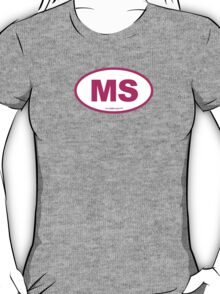 Mississippi MS Euro Oval PINK T-Shirt