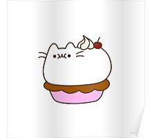 Cute Kawaii Pie Cat Poster