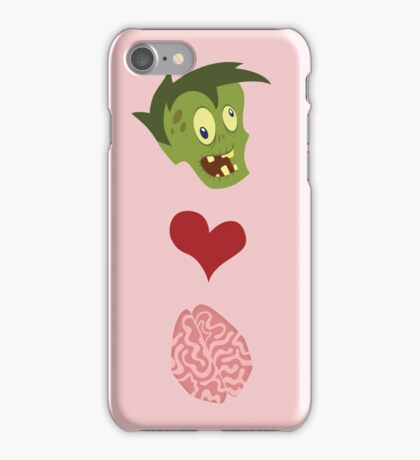 Zombies Love Brains iPhone Case/Skin