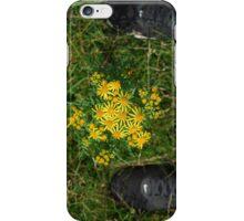 flower between nike iPhone Case/Skin