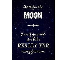 Shoot for the Moon Photographic Print