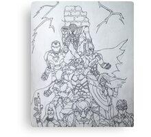 Justice B&W Canvas Print