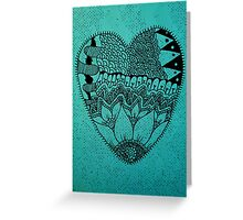 Heart Floral Greeting Card