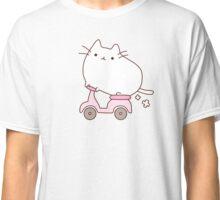 Cute Kawaii Scooter Cat Classic T-Shirt