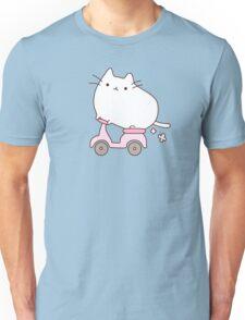 Cute Kawaii Scooter Cat Unisex T-Shirt