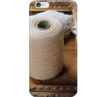 skein of wool and frame iPhone Case/Skin