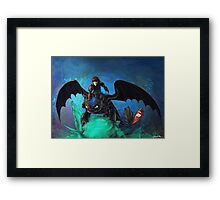 The Alpha Protects Them All Framed Print