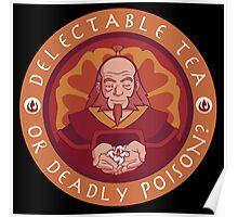 Tea or Poison (Black Version) Poster