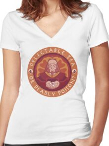 Tea or Poison (White version) Women's Fitted V-Neck T-Shirt