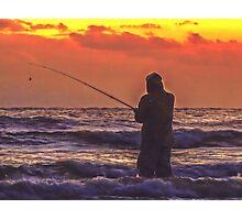 Fisherman At Sea Photographic Print