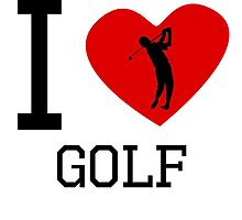 I Heart Golf by kwg2200
