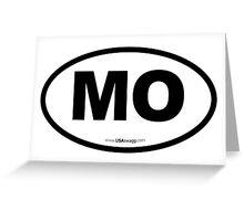 Missouri MO Euro Oval  Greeting Card