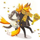 Sunflower Foxes by znuese