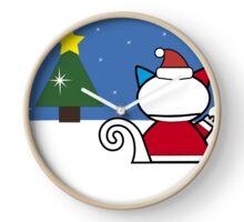 Santa Meowie Snow Clock