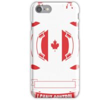 I Am A Canadian Woman Heart Sleeve Fire In Soul T-Shirt iPhone Case/Skin