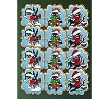 Christmas cookies. Bullfinches Photographic Print