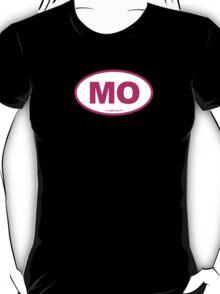 Missouri MO Euro Oval PINK T-Shirt