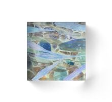 Abstract Environment in blue Acrylic Block