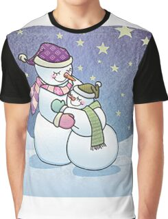 Snowman hugging Graphic T-Shirt