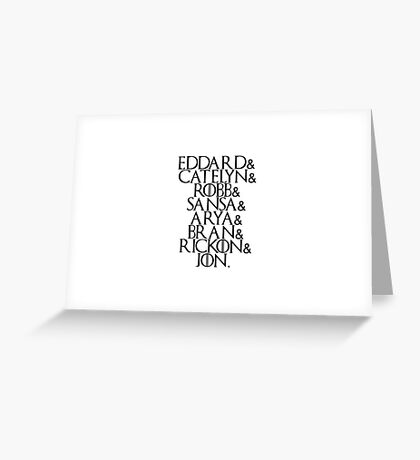 House Stark | Game Of Thrones Greeting Card