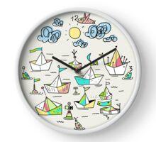 Schiffe im Hafen Clock