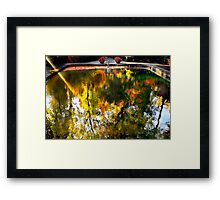 The reflecting pool at WInterthur Framed Print