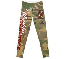 Wreckless Genetics CAMO Tights RED Leggings