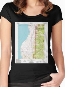 USGS TOPO Map California CA Willow Ranch 102564 1993 24000 geo Women's Fitted Scoop T-Shirt