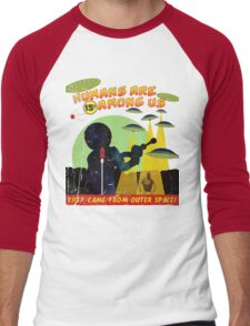 Humans Are Among Us! ver.green Men's Baseball ¾ T-Shirt